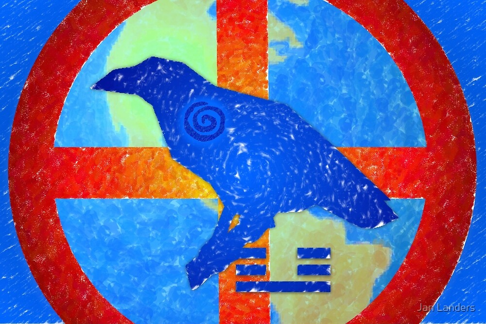 Earth Medicine-Crow (Falling Leaves Time) by Jan Landers