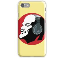 Lenin with Headphones (Yellow and Red) iPhone Case/Skin
