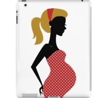 Pregnant woman silhouette Illustration iPad Case/Skin