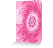 Surreal fractal cold pink flower Greeting Card