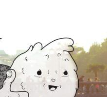 Imaginary Furry Friend by Kale Atterberry Sticker