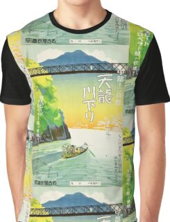 Japanese Travel Poster - Pre WWII Graphic T-Shirt
