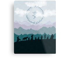 Fellowship Silhouette - Misty Mountains Metal Print