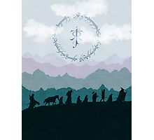 Fellowship Silhouette - Misty Mountains Photographic Print