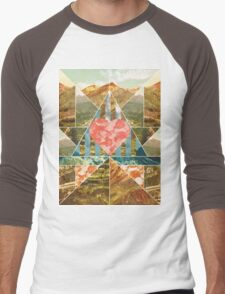 Heart Travel Men's Baseball ¾ T-Shirt