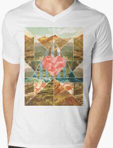 Heart Travel Mens V-Neck T-Shirt