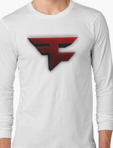Faze Clan | Red Logo | White Background | High Quality Long Sleeve T-Shirt