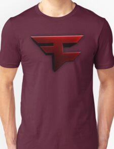 Faze Clan | Red Logo | White Background | High Quality Unisex T-Shirt