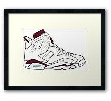 "Air Jordan VII (6) ""Maroon"" Framed Print"