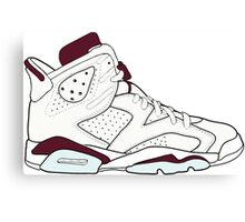 "Air Jordan VII (6) ""Maroon"" Canvas Print"