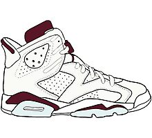 "Air Jordan VII (6) ""Maroon"" Photographic Print"