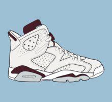 """Air Jordan VII (6) """"Maroon"""" Baby Tee"""