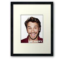 BE HAPPY. Framed Print