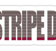 Red Stripe Down Sticker