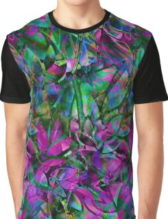 Floral Abstract Stained Glass Graphic T-Shirt