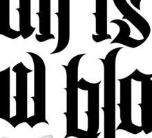 Satan is the new black No.2 (black) Sticker