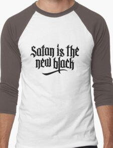 Satan is the new black No.2 (black) Men's Baseball ¾ T-Shirt