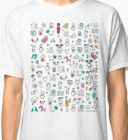 Colorful Pet Rescue Mosaic Classic T-Shirt