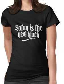 Satan is the new black No.2 (white) Womens Fitted T-Shirt