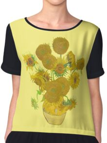 Sunflowers by Vincent van Gogh Chiffon Top