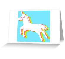 Rainbow Unicorn Greeting Card