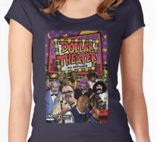 Dollar Theater Vintage-Style Poster Art Women's Fitted Scoop T-Shirt