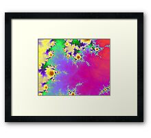 Yellow Fractal Floral Pattern Framed Print