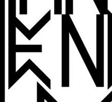 Satan is the new black No.3 (black) Sticker