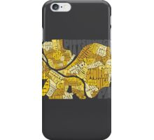 Pittsburgh Neighborhood Map iPhone Case/Skin