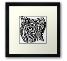 Black and White Design # 01 Framed Print