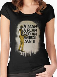 A Man, A Plan and an Aerosol Can Women's Fitted Scoop T-Shirt
