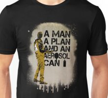 A Man, A Plan and an Aerosol Can Unisex T-Shirt