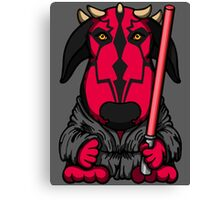 Dark Side Bull Terrier Canvas Print