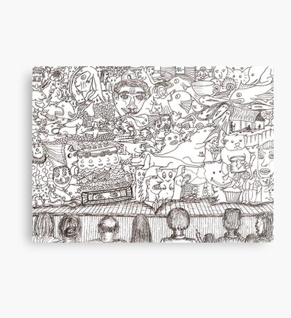 Doodles - The Stage Show Metal Print