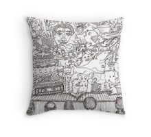 Doodles - The Stage Show Throw Pillow