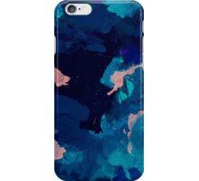 Deep Ocean Marbled Design iPhone Case/Skin