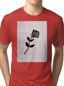 Shlohmo- dark red album cover t-shirt etc Tri-blend T-Shirt
