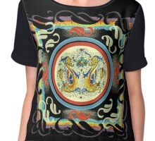Raffaellesco Pottery Dragon Chiffon Top