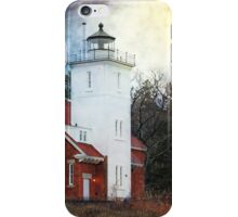 40 Mile Point Lighthouse - Lake Huron Michigan - Photograph iPhone Case/Skin