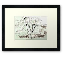 Crows in the Sycamore Framed Print