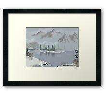 Rocky Mountain Fog Framed Print