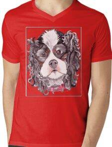 King King Charles Cavaliers Mens V-Neck T-Shirt
