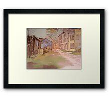 Old Millhouse Yard Framed Print