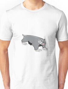 Badger Pouncing Cartoon Unisex T-Shirt
