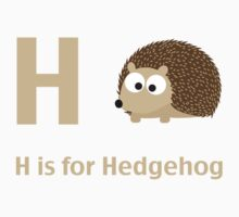 H is for Hedgehog Kids Tee