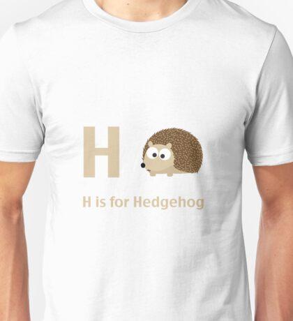H is for Hedgehog Unisex T-Shirt