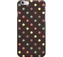 Polka dots (brown) iPhone Case/Skin