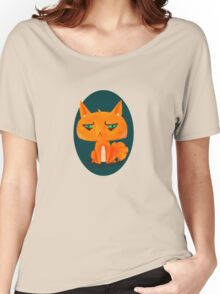 Kind of a Mad Cat Women's Relaxed Fit T-Shirt