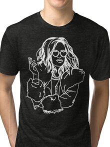 We're Finally Alive! - Darlene Alderson - Mr. Robot Tri-blend T-Shirt