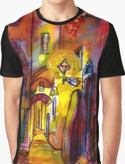 Medieval alley by night in Florence Graphic T-Shirt